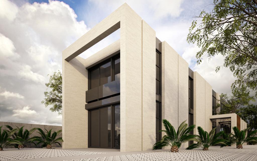 Habitatge unifamiliar aïllat obra vista blanca alumini negre